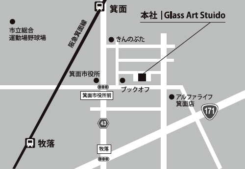 Main Office / The Glass Art Studio accessmap